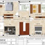 4 Bản vẽ tầng 2 biệt thự kiểu tân cổ điển đẹp tại ninh bình sh btp 0147