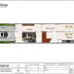 4 Mặt bằng tầng 1 nhà ống hiện đại có 4 phòng ngủ tại hải phòng sh nod 0212