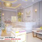 4 Thiết kế nội thất showroom tầng 1 nhà ống mặt tiền rộng tại hà nội sh nod 0211