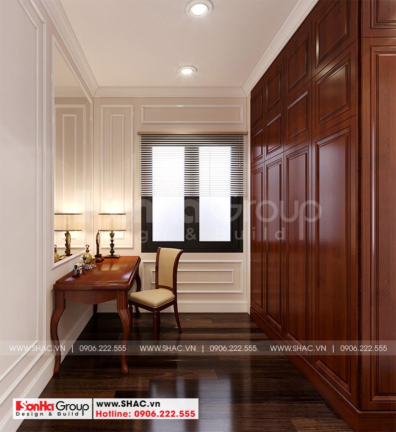 Sàn gỗ và tủ gỗ cùng đồ nội thất gỗ được sử dụng nhiều trong phòng ngủ