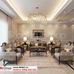 8 Bố trí nội thất phòng khách nhà ống kết hợp kinh doanh kiểu hiện đại tại hà nội sh nod 0211