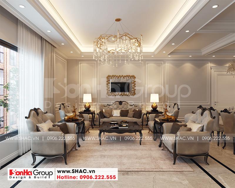 Thiết kế nội thất phòng khách điển hình nội thất nhà liền kề của Sơn Hà Group