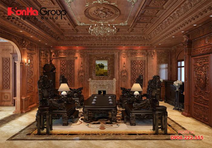 20 Kiểu trang trí phòng khách theo phong cách cổ điển lộng lẫy cho nhà biệt thự 7