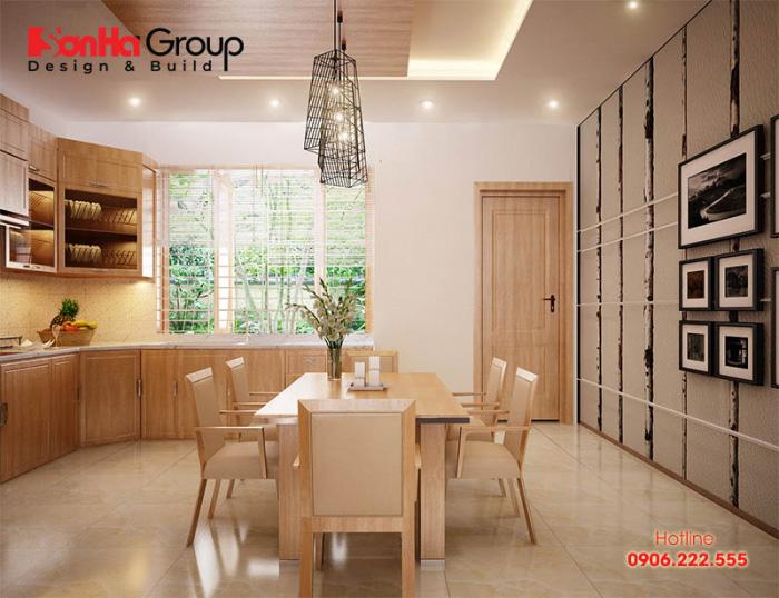 Thiết kế phòng bếp có cửa sổ đẹp, thông thoáng với bí quyết đơn giản 1