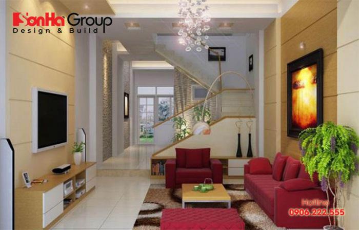 Gợi ý thiết kế nội thất phòng khách nhà ống 5m hiện đại sang trọng