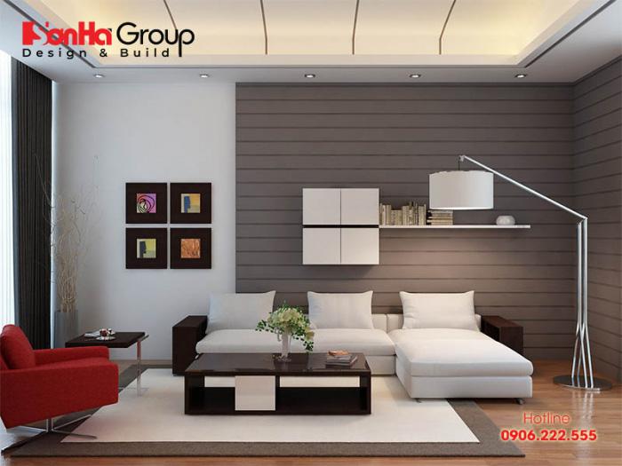 KTS Sơn Hà thường xuyên cập nhật xu hướng trang trí phòng khách nhà ống, nhà phố diện tích 15m2 đẹp khó rời mắt tạo nên niềm tự hào cho chủ nhân khi sở hữu
