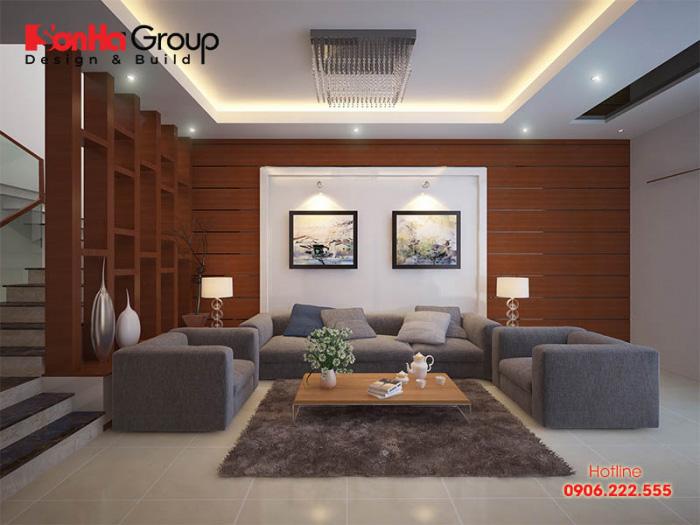 Mẫu nội thất phòng khách thiết kế cho nhà ống đẹp, hiện đại và sang trọng