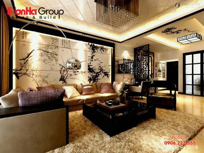Mẫu phòng khách phong cách Nhật Bản thiết kế đẹp được ưa chuộng nhất hiện nay - Mẫu 1