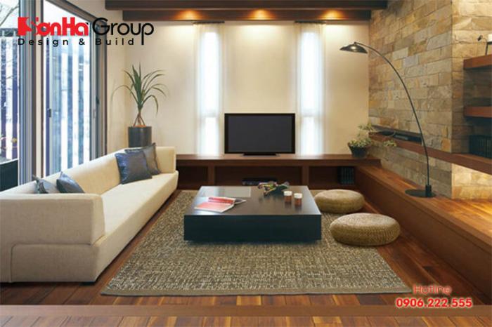 Mẫu phòng khách phong cách Nhật Bản thiết kế đẹp được ưa chuộng nhất hiện nay - Mẫu 2
