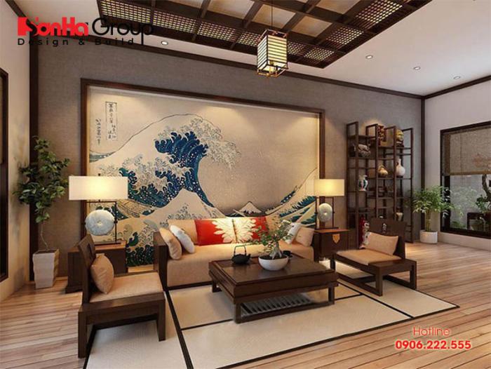 Mẫu phòng khách phong cách Nhật Bản thiết kế đẹp được ưa chuộng nhất hiện nay - Mẫu 4
