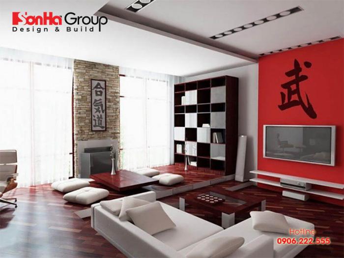 Mẫu phòng khách phong cách Nhật Bản thiết kế đẹp được ưa chuộng nhất hiện nay - Mẫu 6