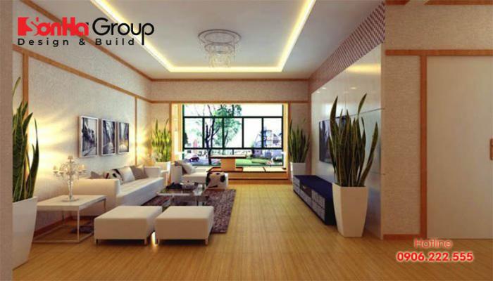 Mẫu phòng khách phong cách Nhật Bản thiết kế đẹp được ưa chuộng nhất hiện nay - Mẫu 7