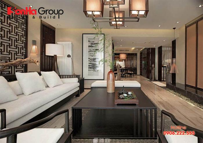 Mẫu phòng khách phong cách Nhật Bản thiết kế đẹp được ưa chuộng nhất hiện nay - Mẫu 8