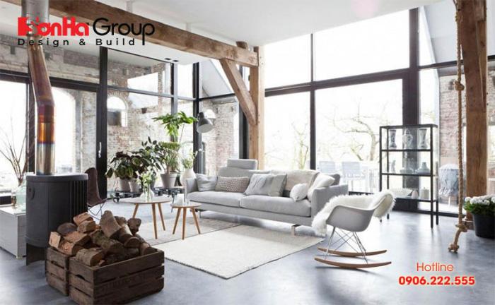 Mẫu phòng khách phong cách Nhật Bản thiết kế đẹp được ưa chuộng nhất hiện nay - Mẫu 9