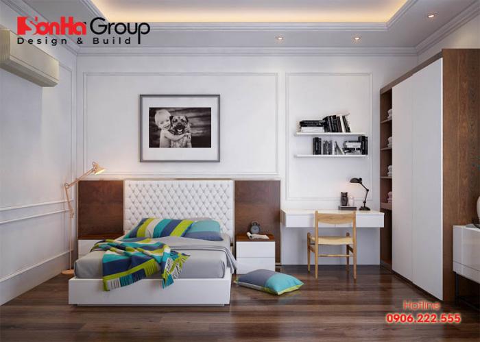 Mẫu thiết kế nội thất phòng ngủ đẹp cho nhà phố có diện tích sử dụng 15m2 rộng rãi