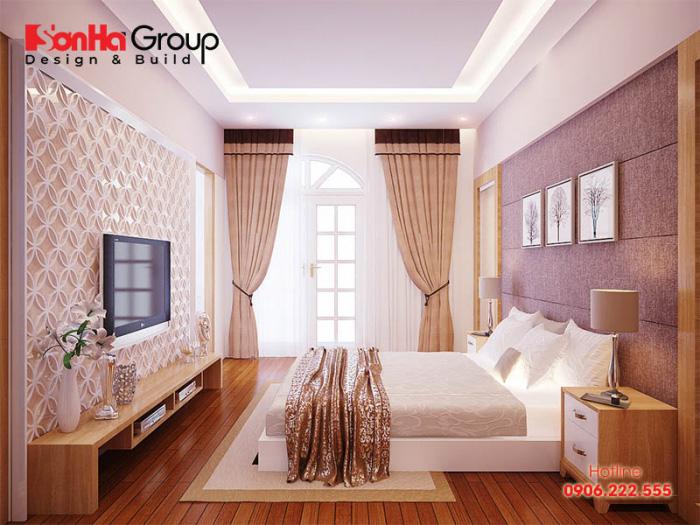Mẫu thiết kế nội thất phòng ngủ diện tích 12m2 phong cách hiện đại cho nhà chung cư