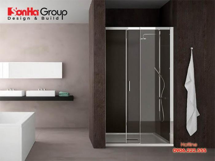 Mẫu thiết kế phòng tắm đứng hiện đại, tiện nghi - Mẫu 1