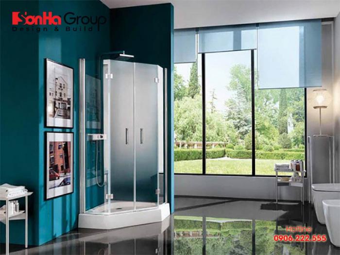 Mẫu thiết kế phòng tắm đứng hiện đại, tiện nghi - Mẫu 2
