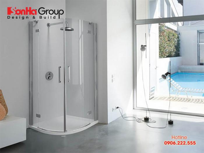 Mẫu thiết kế phòng tắm đứng hiện đại, tiện nghi - Mẫu 3