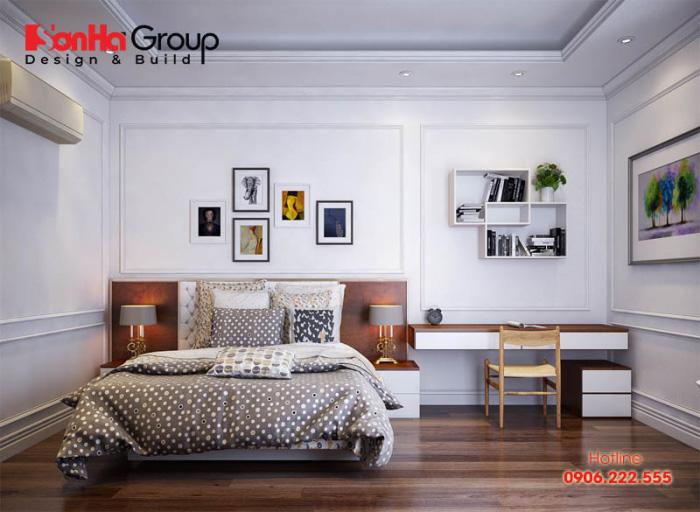 Nội thất phòng ngủ hiện đại diện tích 15m2 kiểu dáng đơn giản, tiện nghi với lối sống nhẹ nhàng