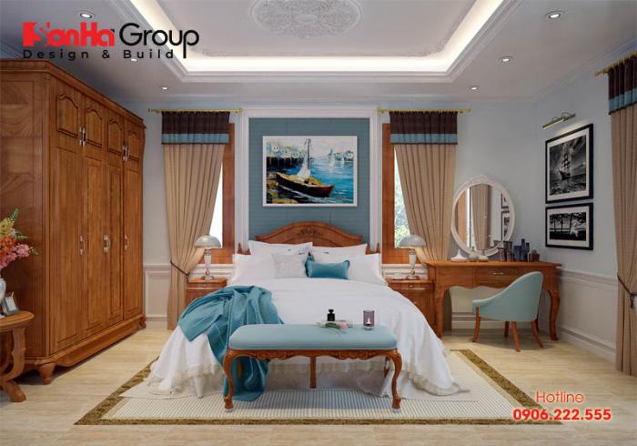 Phong cách thiết kế nội thất phòng ngủ đẹp, sang trọng, vương giả diện tích chỉ 15m2