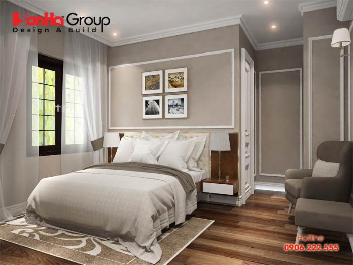 Phòng ngủ 15m2 hiện đại với sắc màu trắng và ghi nhẹ nhàng sẽ làm nên cá tính của chủ nhân sinh hoạt vô cùng ngăn nắp