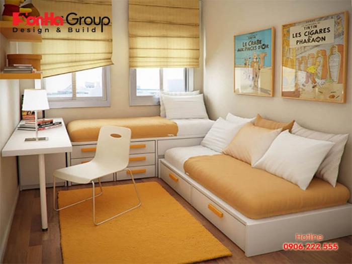 Sử dụng đồ nội thất thiết kế đa năng là cách giúp bạn tiết kiệm diện tích căn phòng