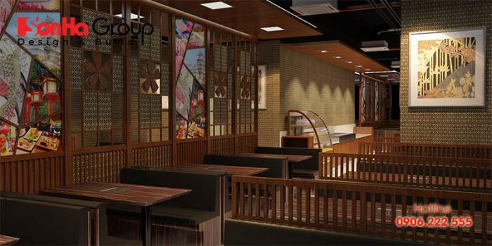 Thiết kế nhà hàng phải thể hiện được phong cách văn hóa Nhật