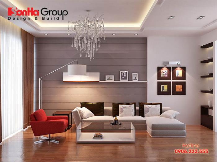 Thiết kế nội thất phòng khách 15m2 đẹp và sang trọng với những đường nét trẻ trung, hợp với phong cách sống của gia đình trẻ năng động