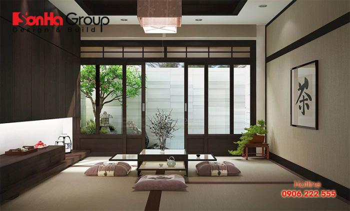 Thiết kế phòng khách phong cách Nhật ấn tượng nhất khiến vạn người mê