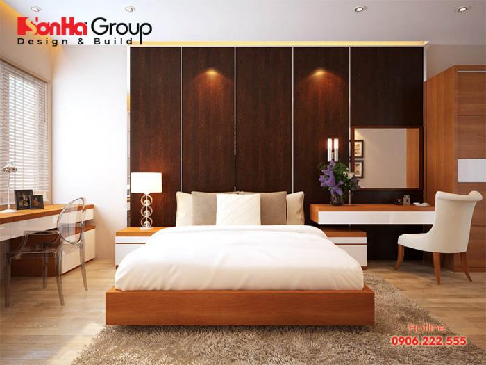 Thiết kế phòng ngủ hiện đại diện tích 12m2 với những gam màu ấm áp