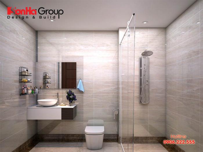 Thiết kế toilet đơn giản và hiện đại mà đáp ứng được mọi công năng gia chủ đề ra