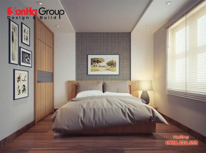 Với phòng ngủ 12m2 nếu bố trí phù hợp sẽ mang lại không gian tiện nghi
