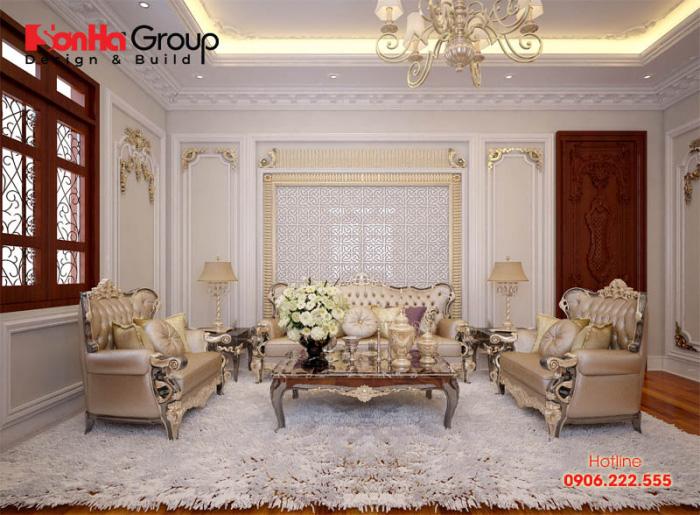 Xu hướng bày trí phòng khách ấm cúng, trẻ trung cho nhà ống tân cổ điển với màu sắc trầm ấm hoàn hảo