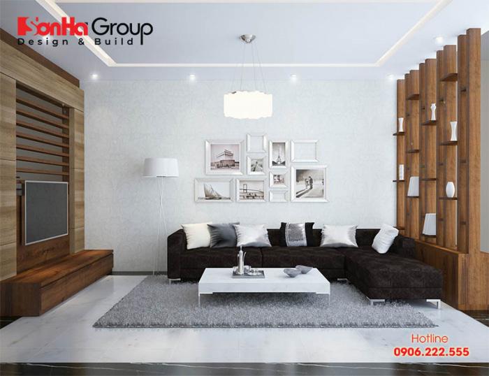 Ý tưởng thiết kế nội thất phòng khách hiện đại trẻ trung sang trọng với diện tích 15m2 lý tưởng