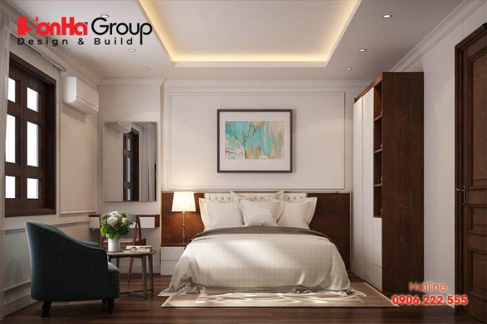 Ý tưởng thiết kế nội thất phòng ngủ đẹp kiểu dáng hiện đại diện tích chỉ 15m2