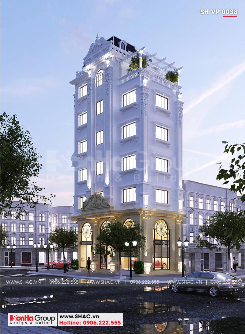 Thiết kế tòa nhà văn phòng tân cổ điển 6,8x11m tại Hà Nội - SH VP 0038 1