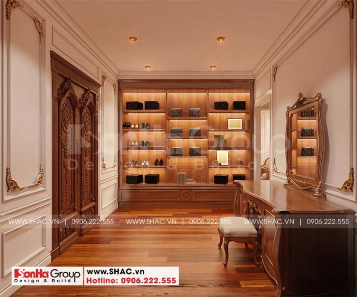 Thiết kế nội thất phòng thay đồ biệt thự
