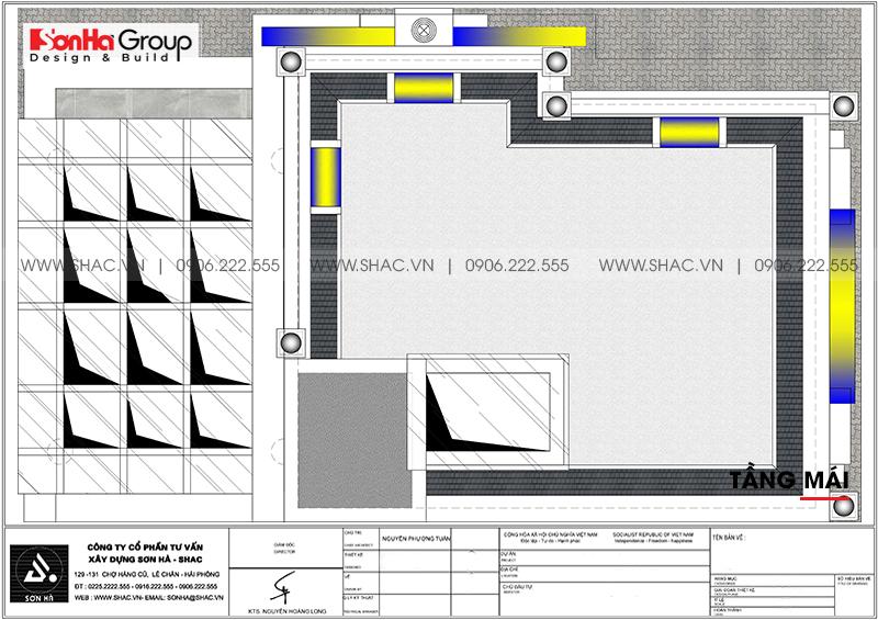 Thiết kế tòa nhà văn phòng tân cổ điển 6,8x11m tại Hà Nội - SH VP 0038 11