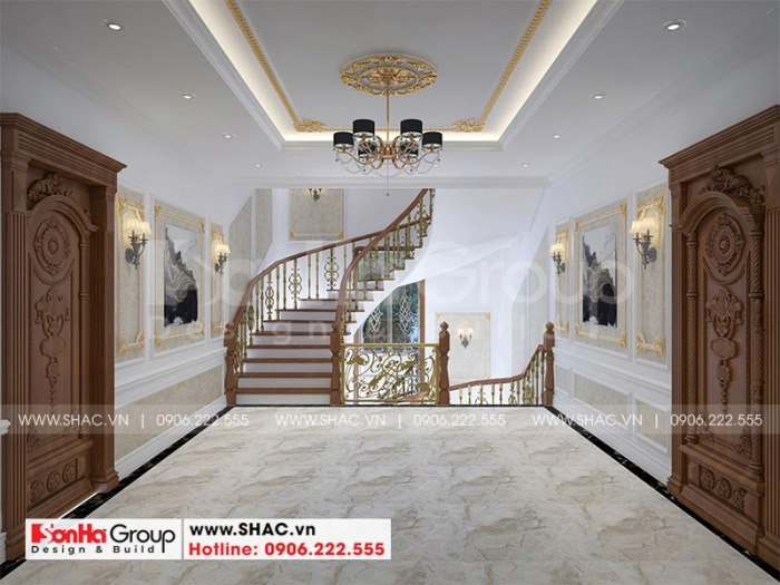 Khu vực sảnh thang tầng 2 thiết kế đẹp