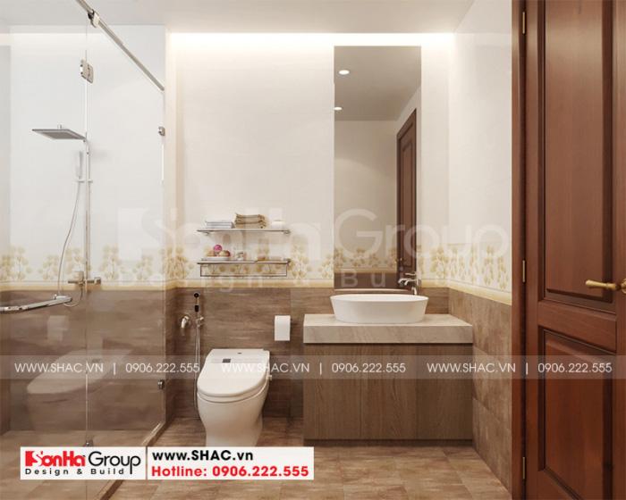 Mẫu thiết kế nội thất phòng tắm và vệ sinh với vật liệu cao cấp