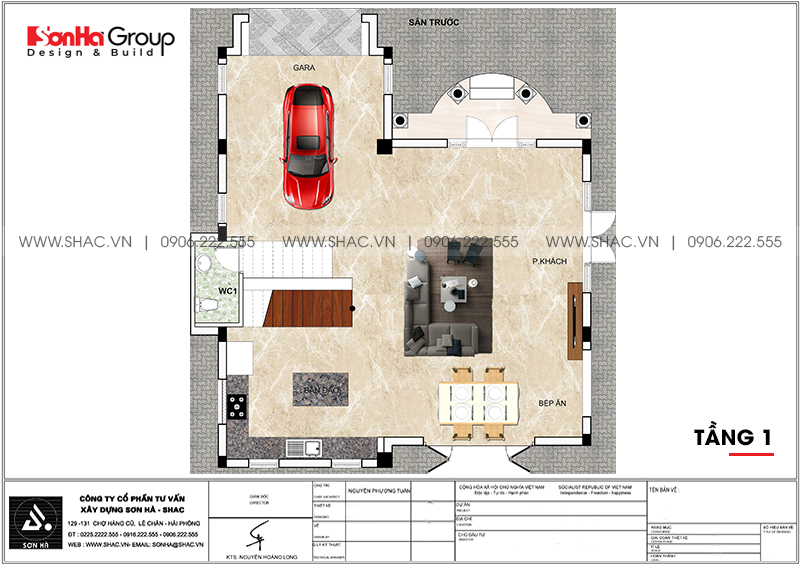 Không gian nội thất xa hoa biệt thự tân cổ điển 10,12x12,32m Vinhomes Imperia 16
