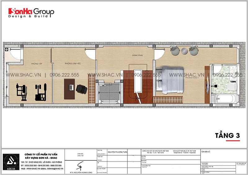 [Mãn nhãn] Mẫu thiết kế nội thất nhà phố kết hợp văn phòng làm việc tại Hải Phòng 18