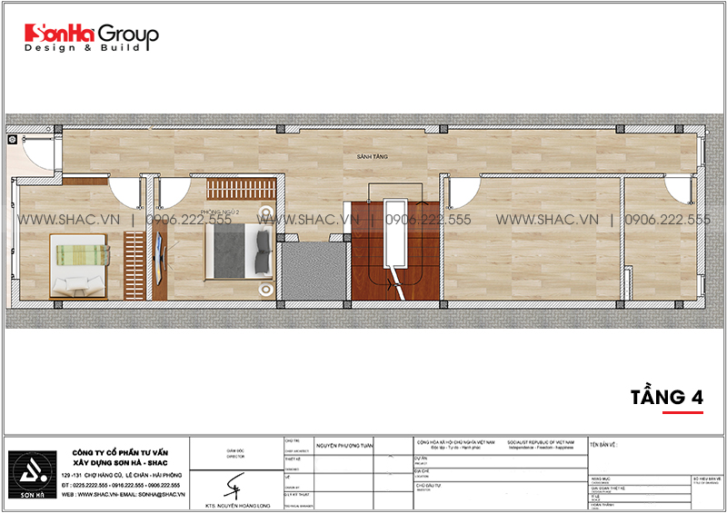 [Mãn nhãn] Mẫu thiết kế nội thất nhà phố kết hợp văn phòng làm việc tại Hải Phòng 19