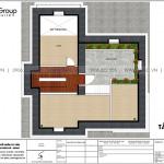 19 Bản vẽ tầng tum biệt thự 3 tầng khu đô thị vinhomes imperial vhi 0006