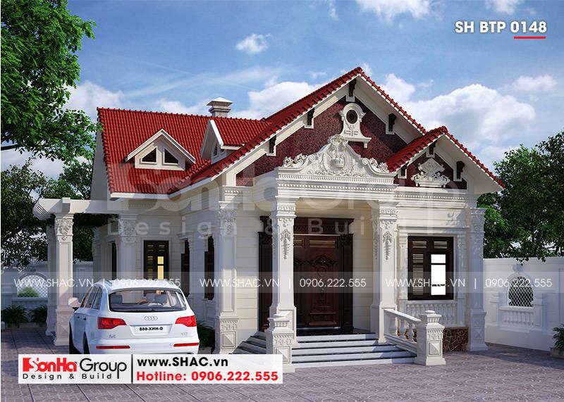 Biệt thự tân cổ điển mái thái 1 tầng 10x13m tại Hải Phòng – SH BTP 0148 1
