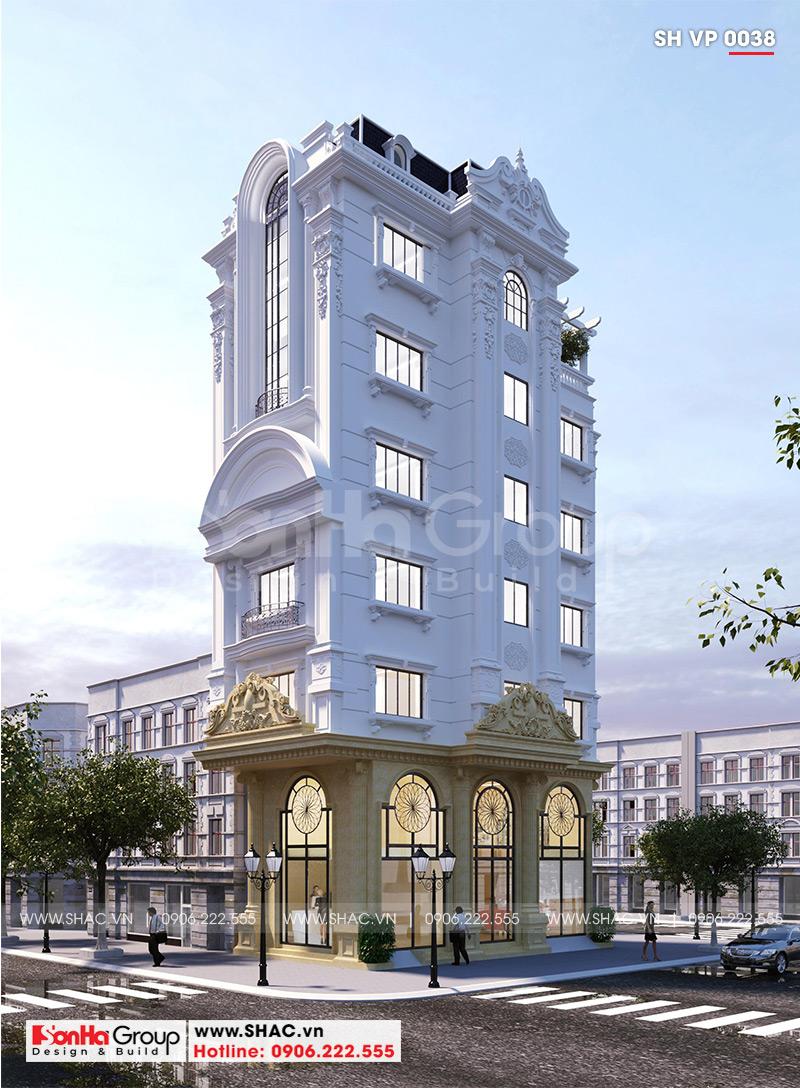 Thiết kế tòa nhà văn phòng tân cổ điển 6,8x11m tại Hà Nội - SH VP 0038 2