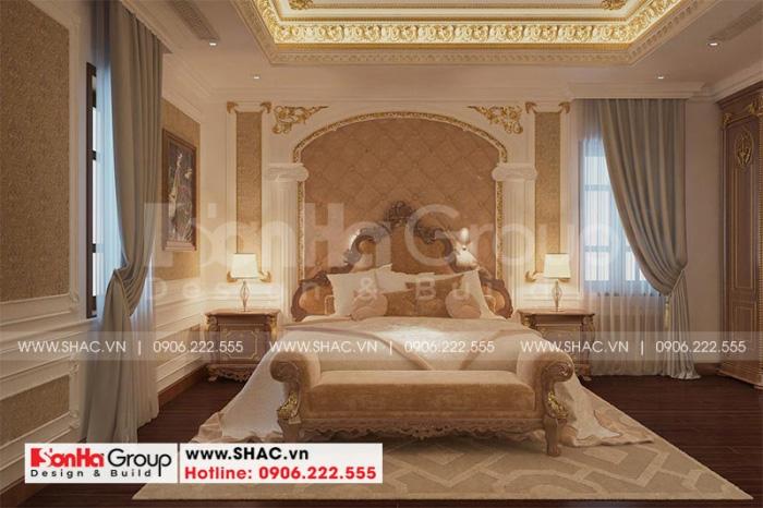 Không gian phòng ngủ với nội thất cổ điển châu Âu
