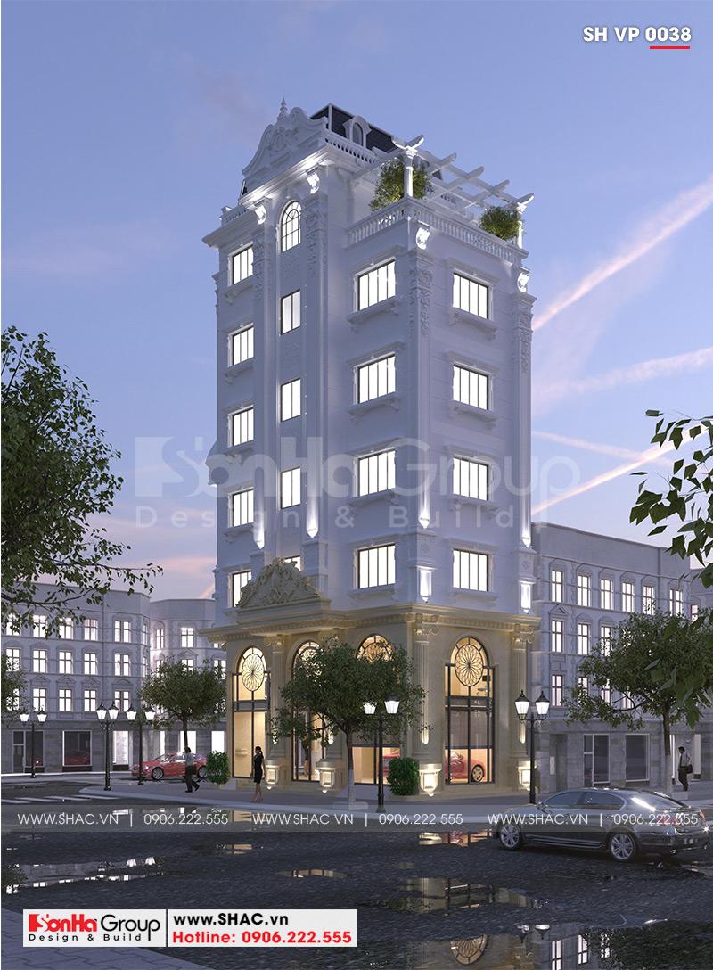 Thiết kế tòa nhà văn phòng tân cổ điển 6,8x11m tại Hà Nội - SH VP 0038 3