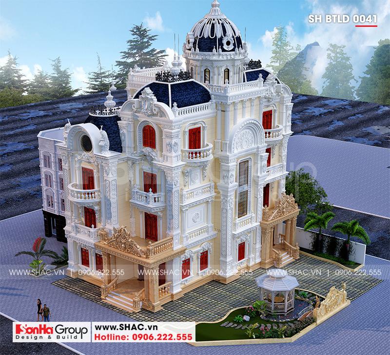 Biệt thự lâu đài 4 tầng 1 tum - BTLD 0041